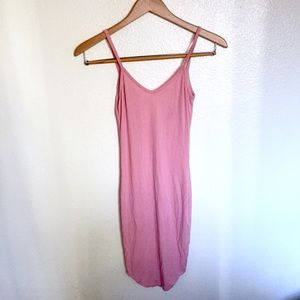 Fashion nova ribbed pink dress